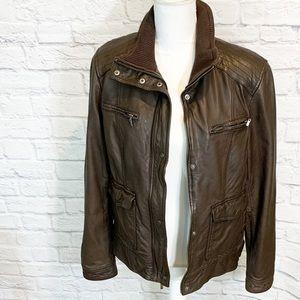 Cole Haan Moto Lambskin Jacket